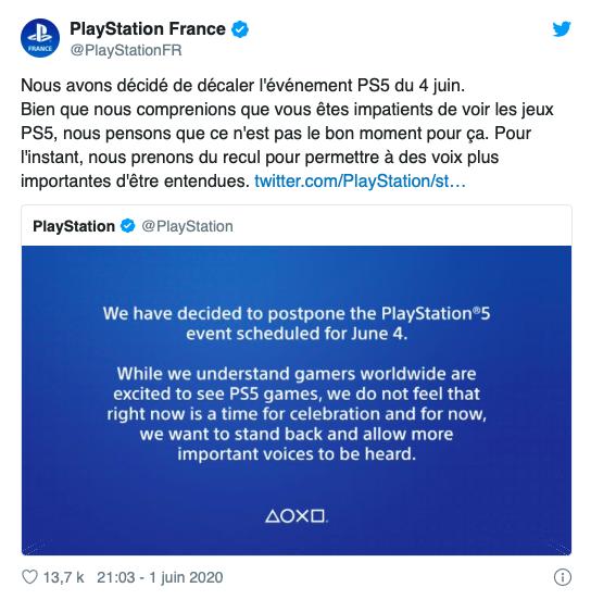 Playstation communique sur le changement de date pour sortie de la PS5